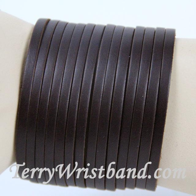 Brown Leather Bracelet for Men front