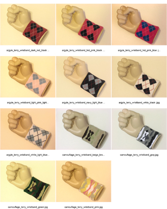 camouflage, argyle, urban hip hop skater style wristband all catalog