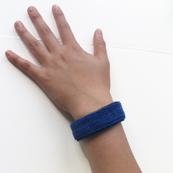 1 royal blue inch wristbands all