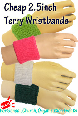 Cheap 2nch terry wristbands