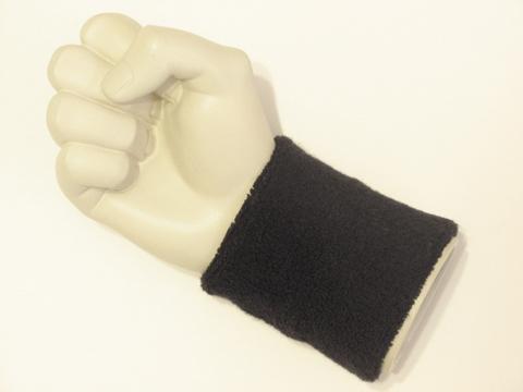 Black wristband sweatband terry for sports from  terrywristband.com/sweatband/ terry-cloth wristbands sweatbands online  website [WB104-BLK]
