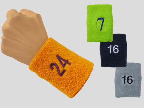 Custom Embroidery sport terry 4 inch wrist sweatband f52c14fdf9c