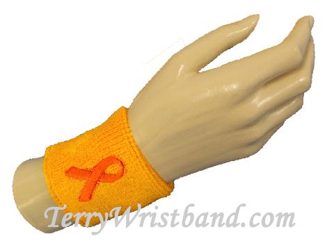 Premium Childhood Cancer Awareness Gold Ribbon Terry Wristband