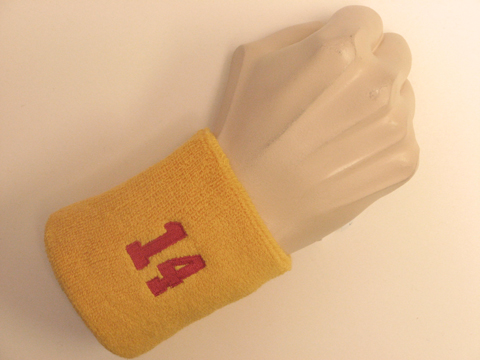 Lets Count to 1001 Golden_yellow_wristband_sweatband_with_number_14
