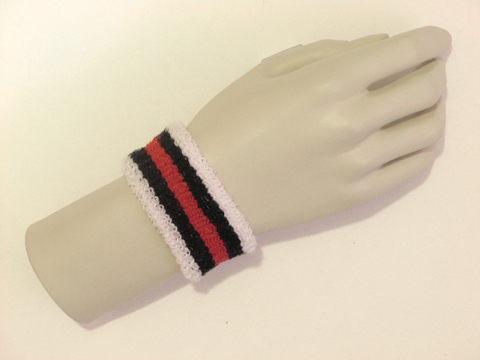 White black red black white kid cheap terry wristband